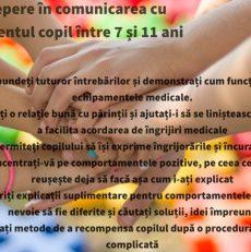Comunicarea cu pacienții copii din grupa de vârstă 7-11 ani