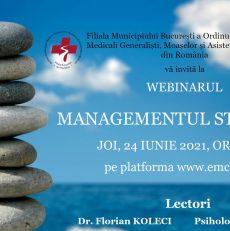 Webinar:  Managementul stresului